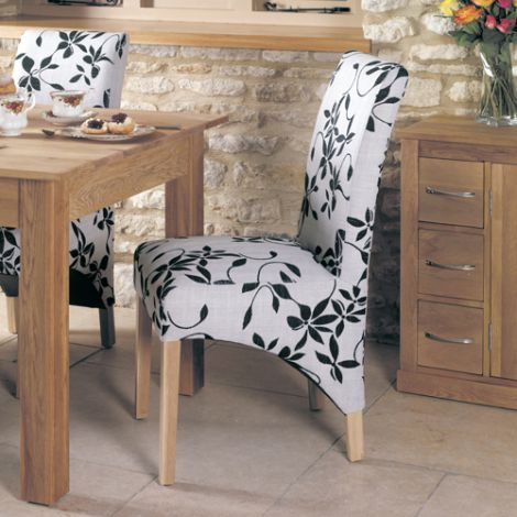 Baumhaus Oak Upholstered Dining Chair (Pack Of Two)